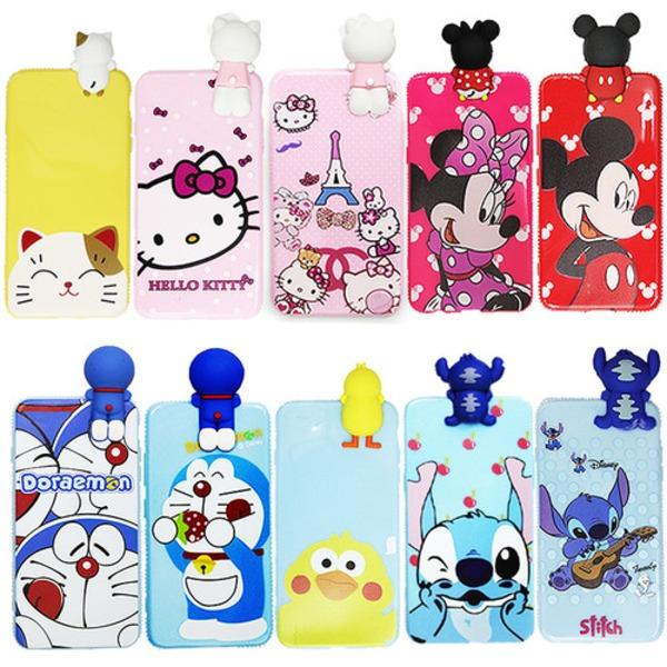 Softcase/Case 3D Karakter Vivo Y53 Free Tempered Glass Motif Senada Case (RANDOM)