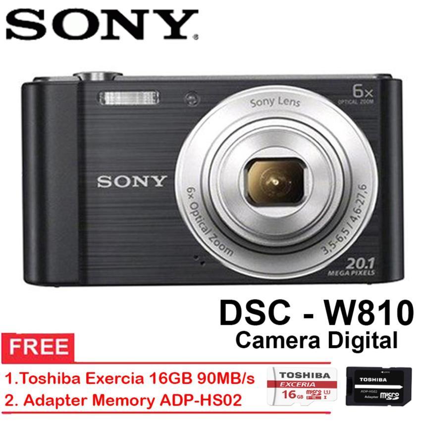 Sony DSC W810 6X Zoom Optik Kamera Digital Free Memory 16GB