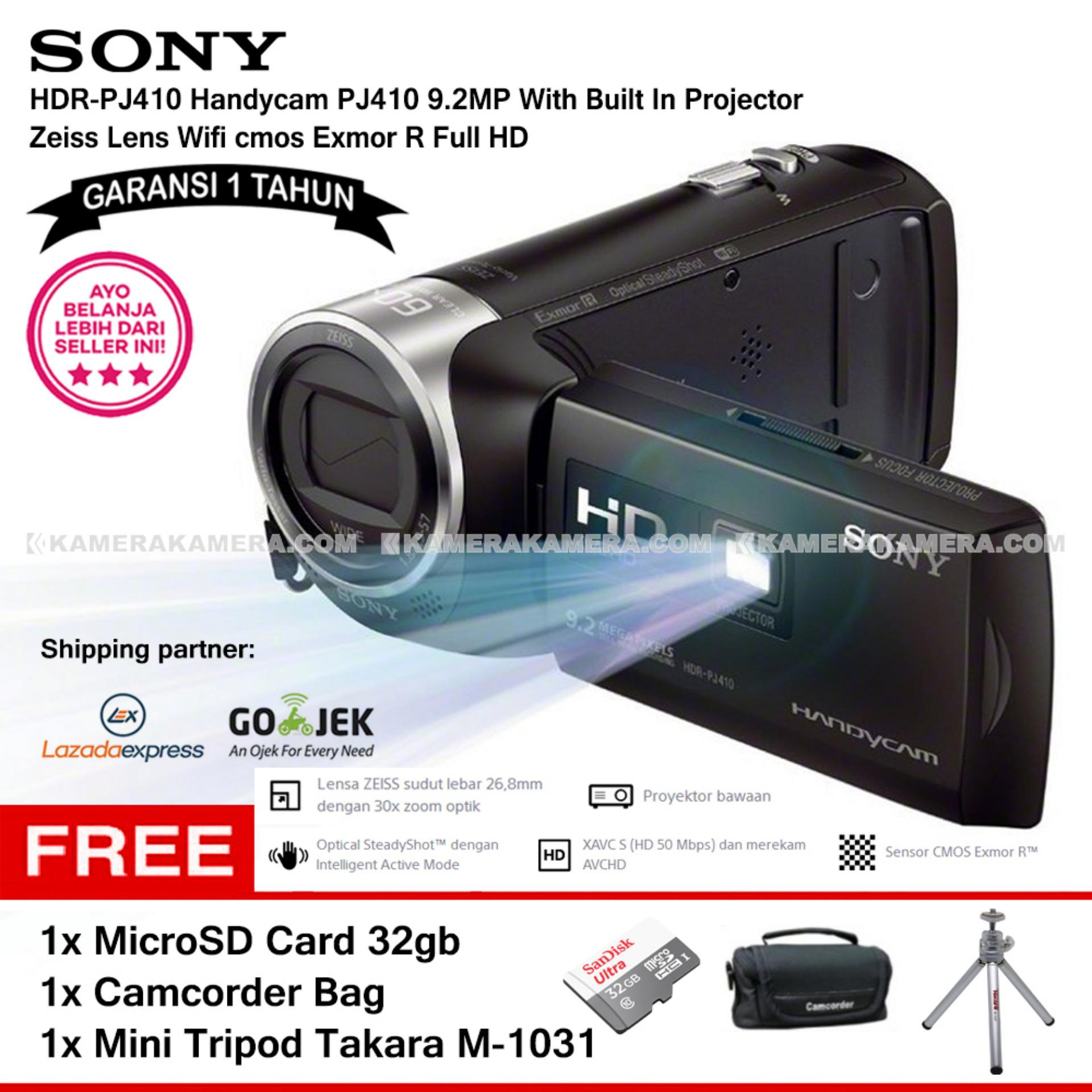 SONY HDR-PJ410 Handycam PJ410 9.2MP With Built In Projector Zeiss Lens Wifi cmos
