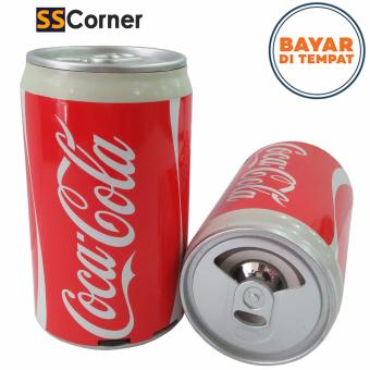 Speaker Mp3 Portable Kaleng Minuman - coca-cola