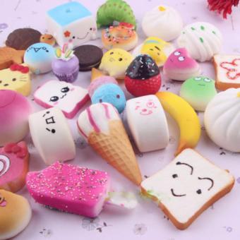 Squishy Jumbo Medium Mini Soft Squishy Cake / Panda / Bread / Buns Phone Straps -