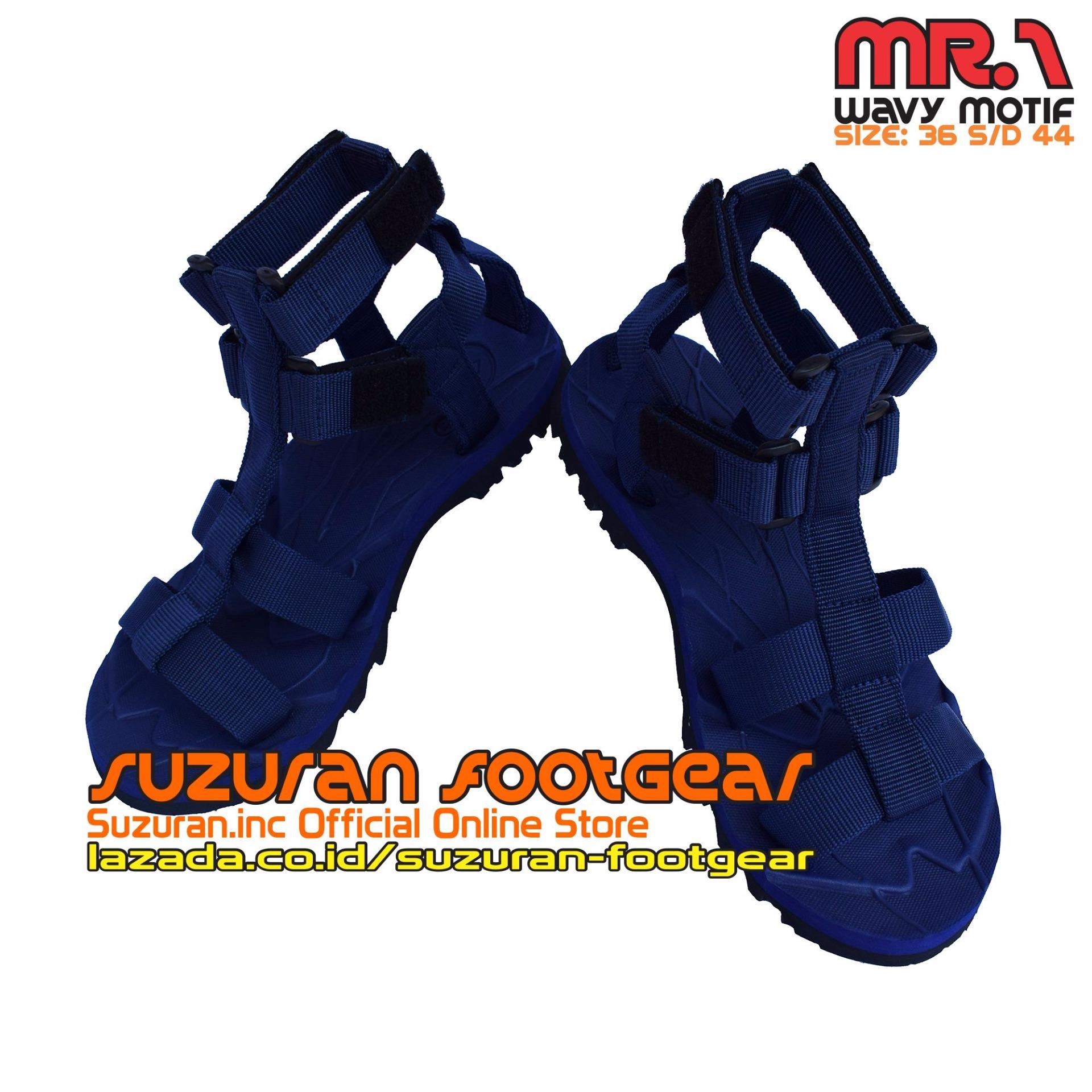 Harga Suzuran Sandal Gunung High Land Full Hitam Terbaru Cross Thumb Mr2 Brown Highland Mr1 Navy Blue