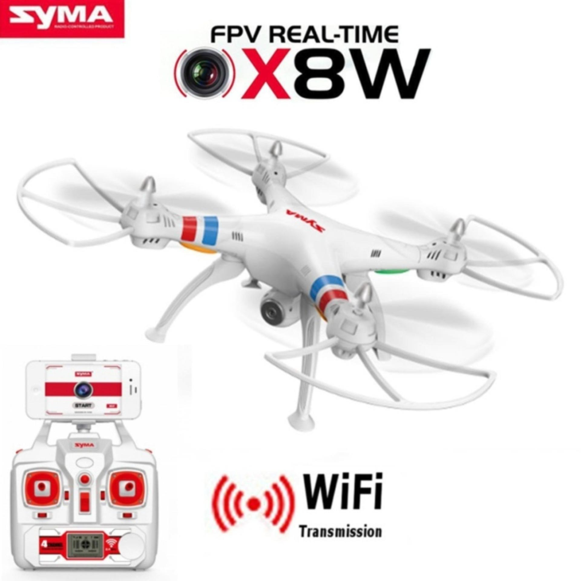 SYMA X8W FPV RC Quadcopter Drone with WIFI Camera 2.4G 6 Axis - Support Action