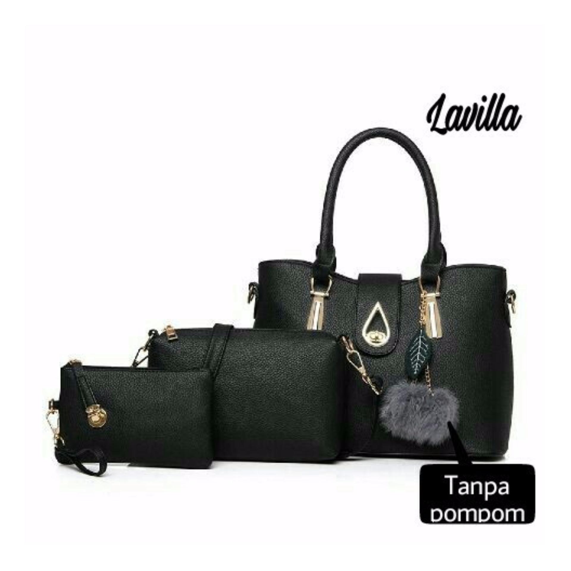 Tas Wanita Trendy Lestari Fashion water Black
