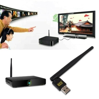 Tech Accessories Mini Portable USB 2.0 WiFi Antenna Dongle for Satellite TV Receivers V8 - intl