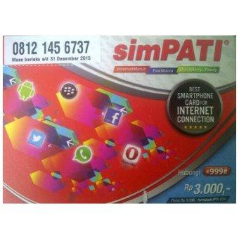 Telkomsel Simpati 11 Digit 08 121 456 737 Kartu Perdana Nomor Cantik