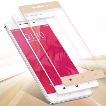 Tempered Glass For Oppo A37 Full Screen Gold Screen Anti Gores Kaca / Screen Guard /