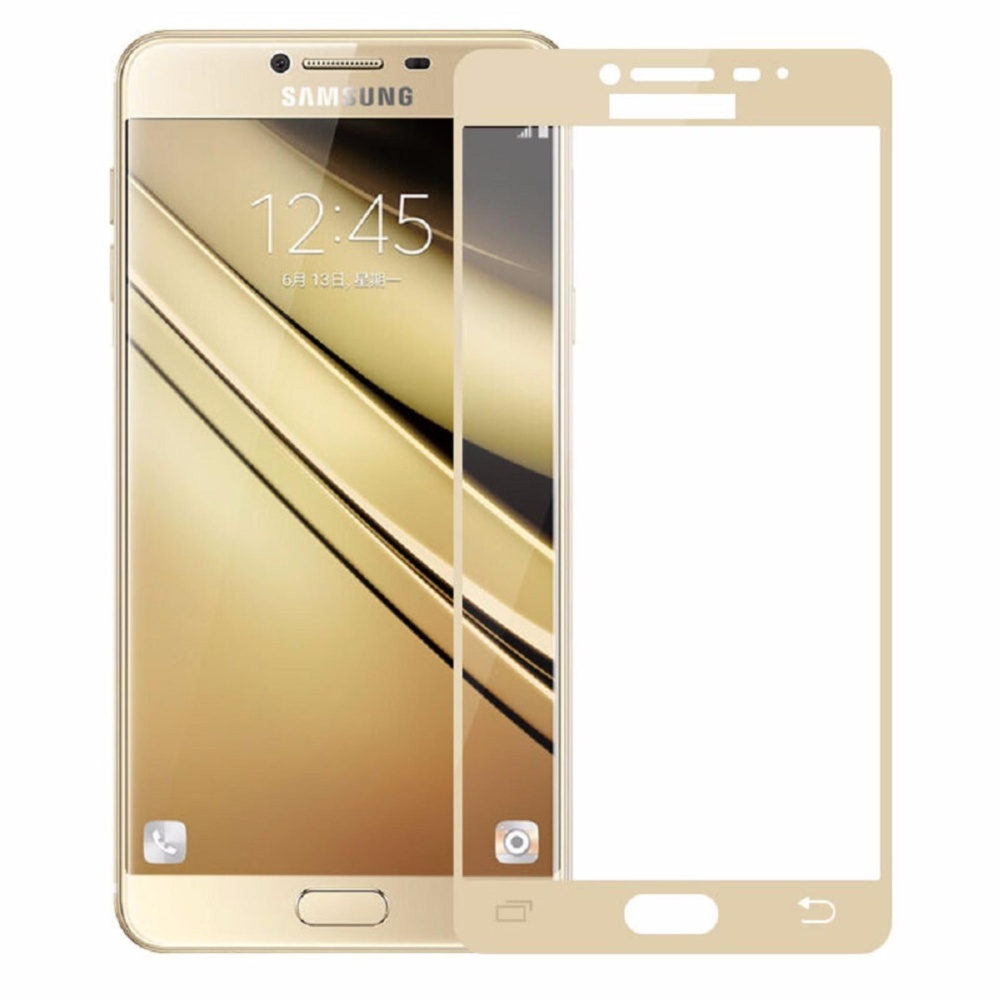 Shock Price Tempered Glass For Samsung Galaxy A7 2017 A720 9H Full Screen Gold Screen Anti