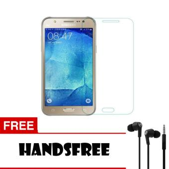 Tempered Glass For Samsung Galaxy J7 Prime Ultra Screen Protector + Free Handsfree