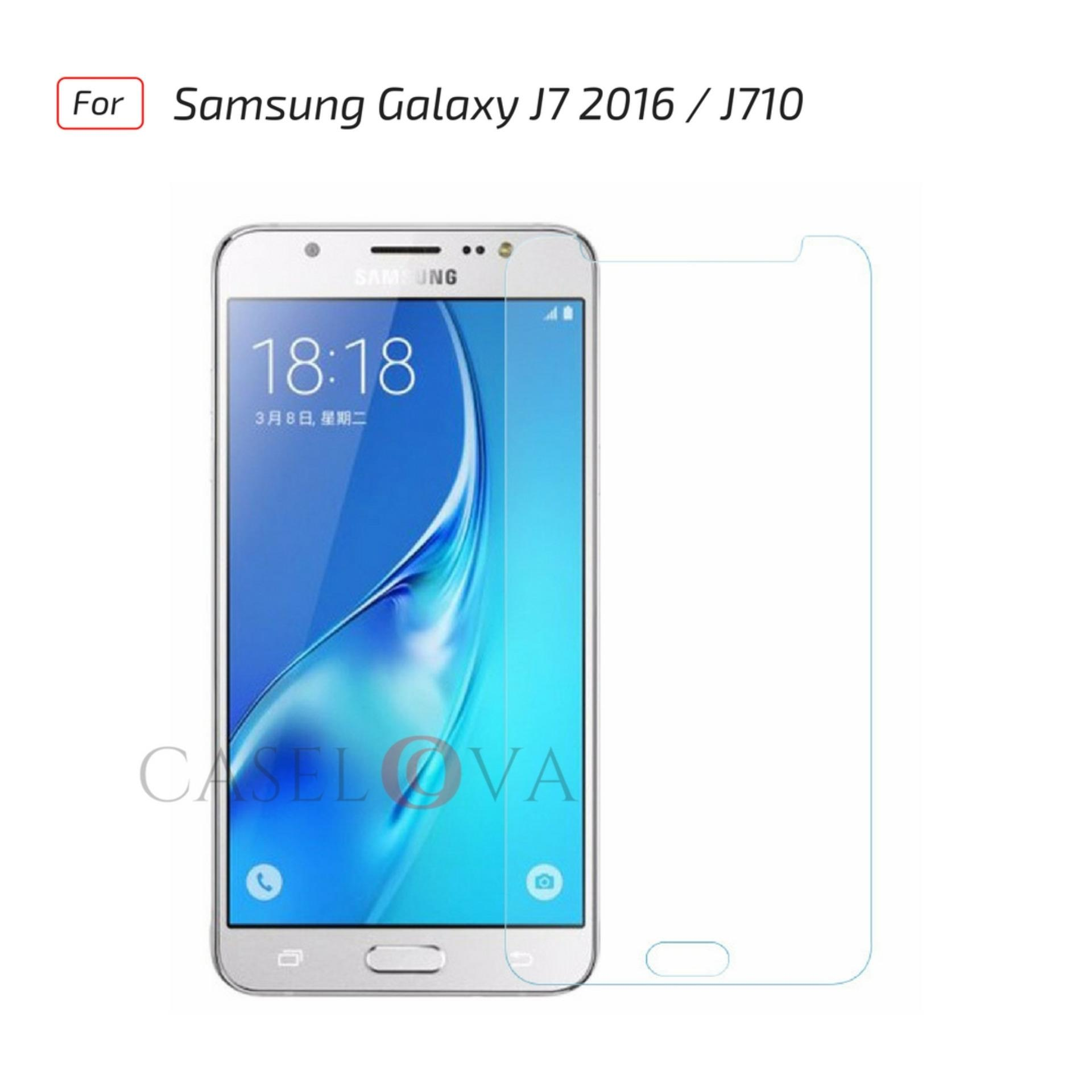 Discount Tempered Glass Screen Protector Anti Gores Kaca Samsung Galaxy J7 2016 / J710 - Clear