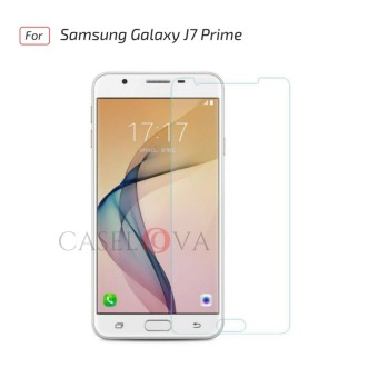 Tempered Glass Screen Protector Anti Gores Kaca Samsung Galaxy J7 Prime - Clear