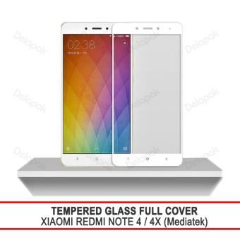 Tempered Glass Warna Full Cover Screen Protector Anti Gores for Xiaomi Redmi Note 4 / Note