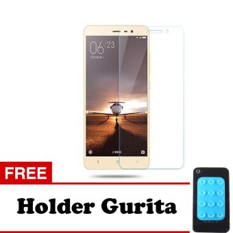 Tempered Glass Xiaomi Redmi 3S Screen Protector - Putih Transparant + Free Holder Gurita