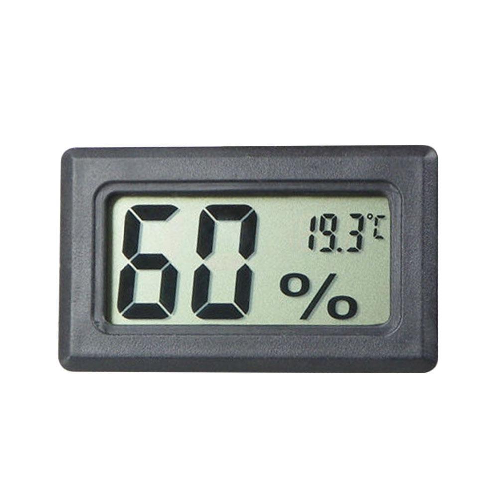 Termometer Kelembaban Meter Akurat Digital Hitam/Putih Tools Alat-Internasional