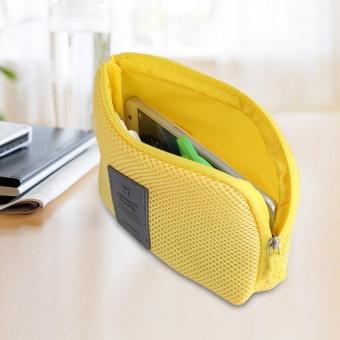 TMISHION Mini Portable Earphone Data Kabel USB Travel Case Organizer Pouch Tas Penyimpanan-Intl