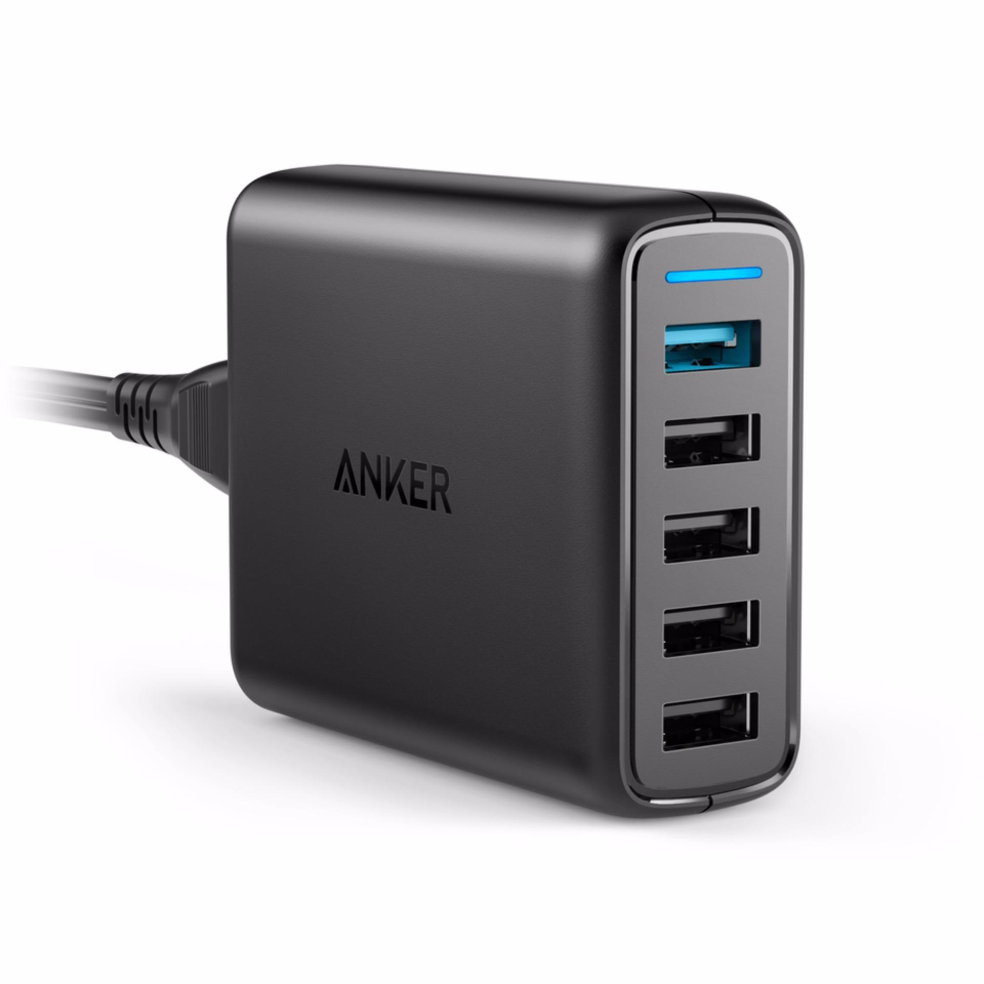 Cek Harga Baru Anker Desktop Charger Powerport 5 Usb C Hitam A2053 Powerline To Micro Female Adapter Black B8174011 Tokuniku A2054611 Speed Port 63w With Quick Charge 30