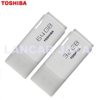 Toshiba USB flash Memory / Flas disk Usb Real Capacity USB 2.0 32GB Putih