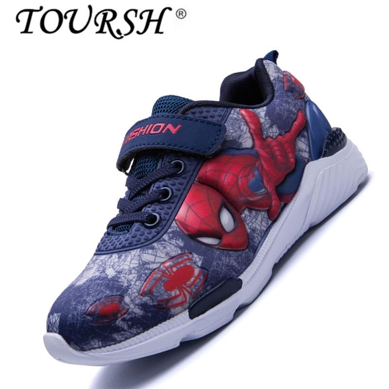 TOURSH Boys Cool Kartun Anak Olahraga Sepatu Gambar Berwarna Sepatu (biru  Tua)-Intl 419b5e52b6