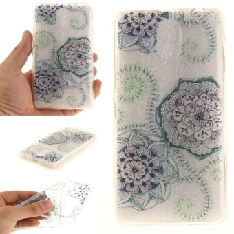 TPU Flexible Soft Case for Lenovo Vibe P1M (Blue And Green Flowers) - intl
