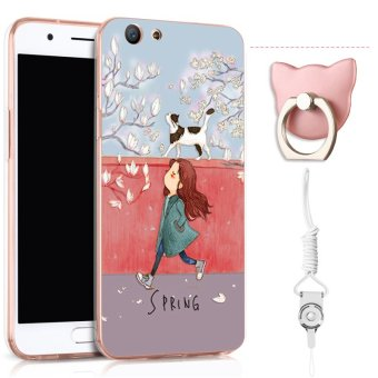 TPU Soft Case for OPPO F1S with Ring and Rope (Multicolor)
