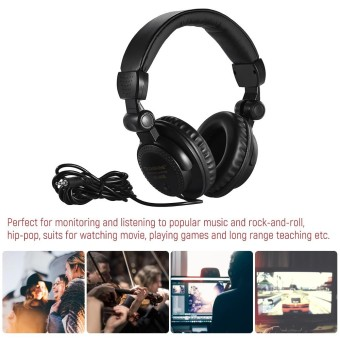 TRanshine HR-960B Wired Stereo Dynamic Monitor Headphone Headset for Guitar PC Computer CD Player