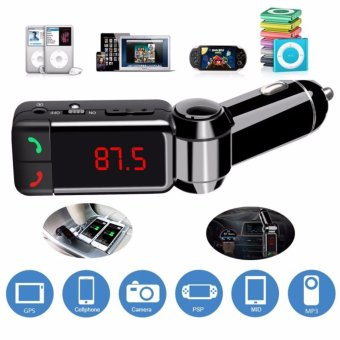 Trasmettitore FM BC06B LCD Bluetooth Car Kit MP3 SD 2 USB Charger handsfree per iphone 7