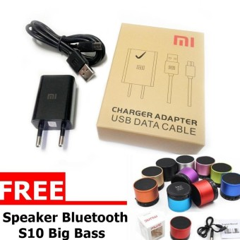 Travel Charger Original Charger 5V- 1A - Hitam Free Music Box Bluetooth Speaker Portable Musik