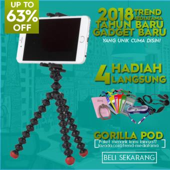 Trend's Premium Gorilla Pod Flexible Tripod Octopus Free Iring Stand + Kabel Android 1 Meter +