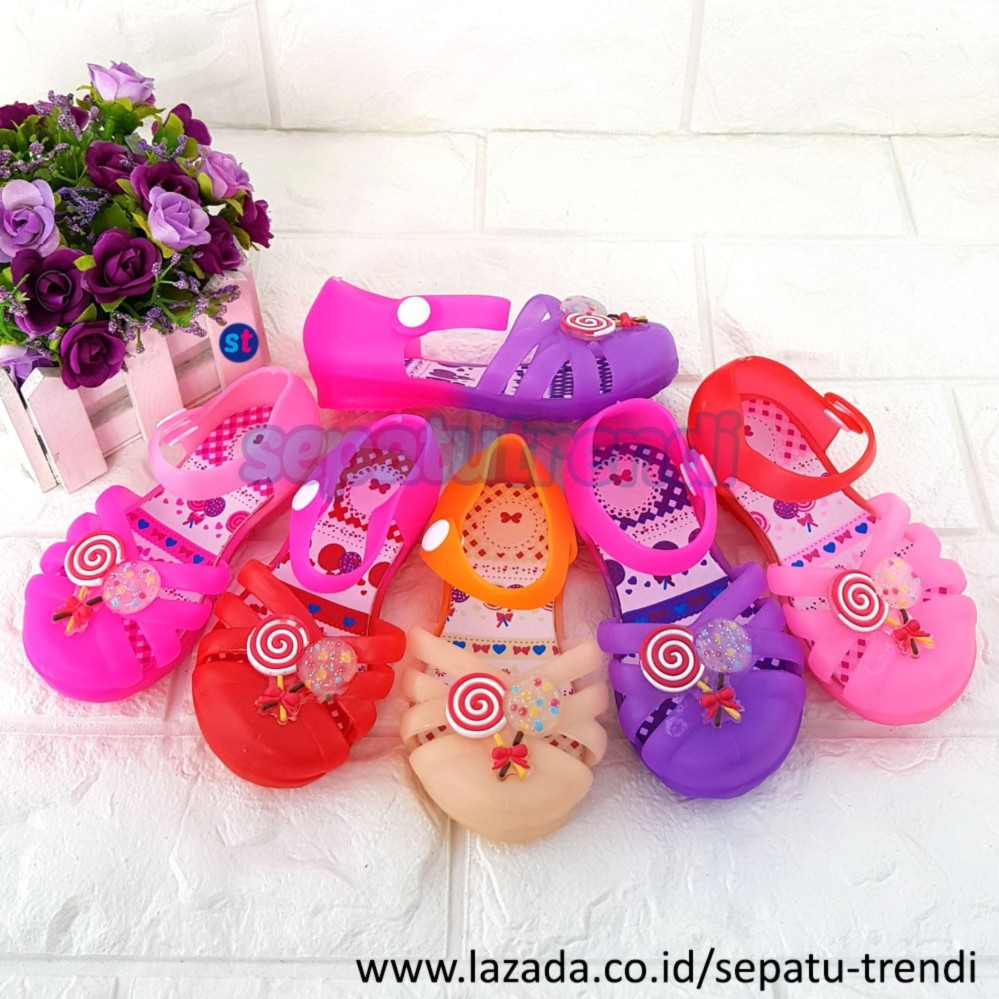 Trendi Sepatu Sandal Jelly Shoes Anak Bayi Perempuan Maryjane WARNA DIKIRIM RANDOM JLCANDY