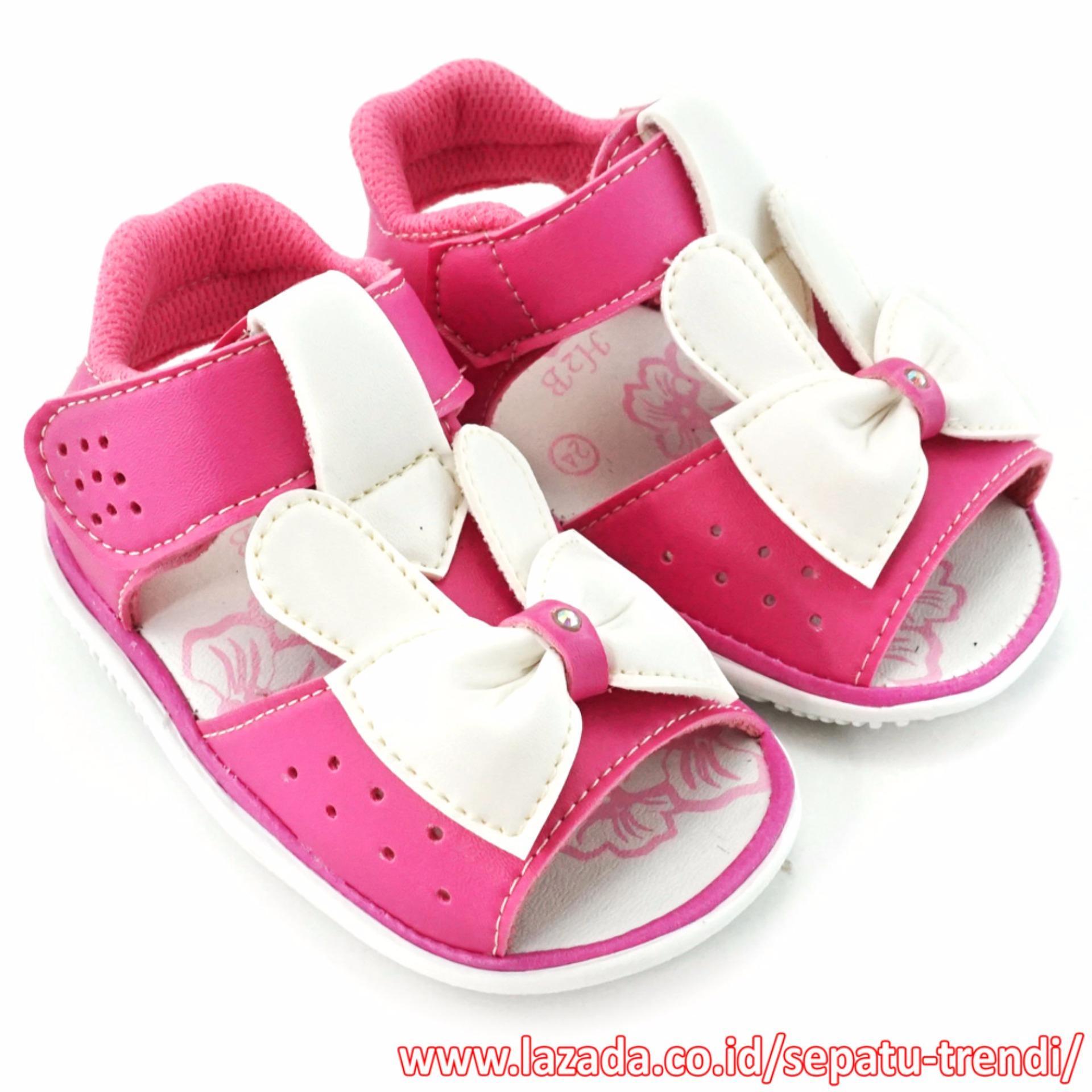 TrendiShoes Sepatu Sandal Bunyi Anak Walker PBDNR4 - Fuchsia