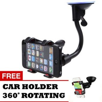 Trend's Car Holder for Universal HP - Hitam + Gratis Car Holder Universal 360 Rotating