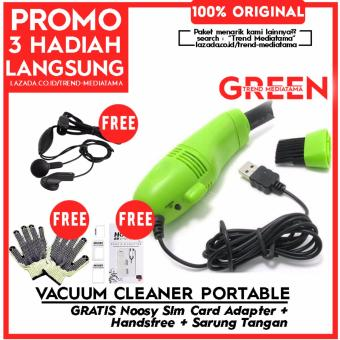 Trend's Pembersih Mini USB Vacuum Keyboard Cleaner For Laptop Computer PC Penghisap Debu Vacum Portable Gratis