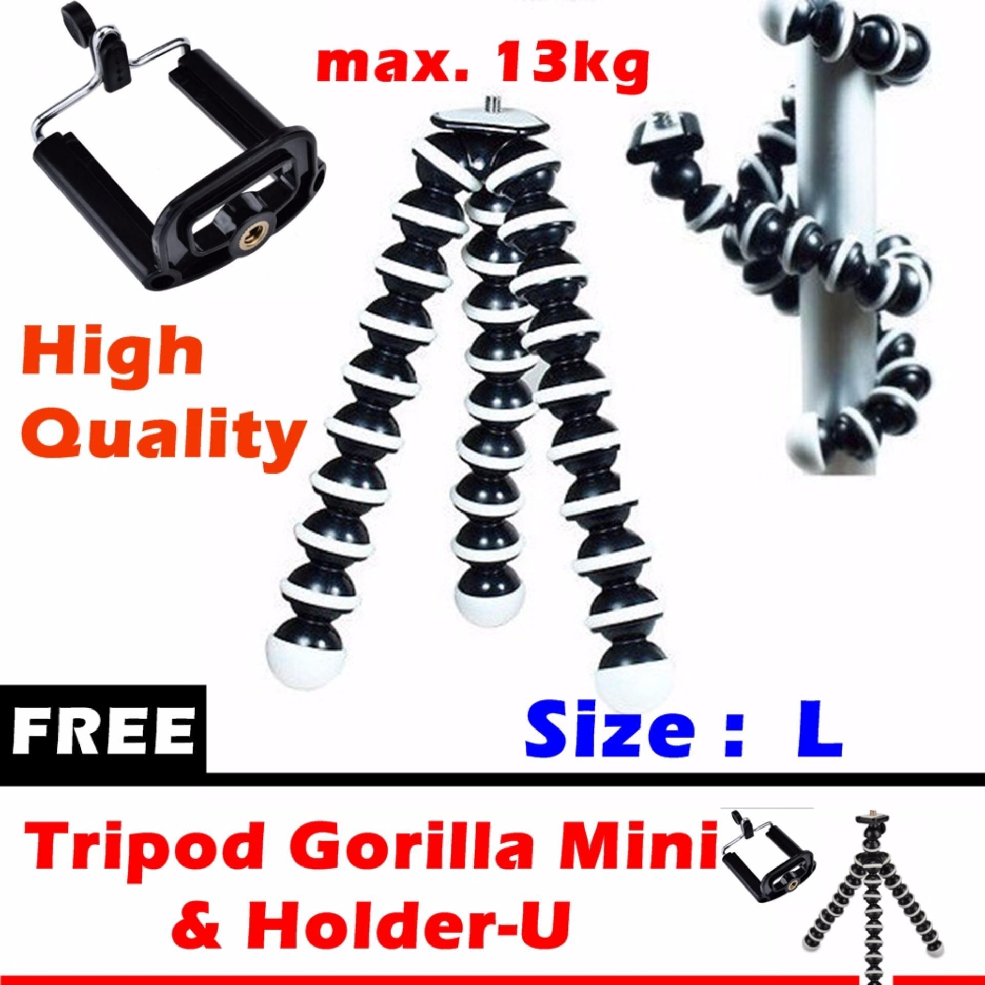Shock Price Tripod Gorilla Flexible Size L (max 13kg) with Holder-U +