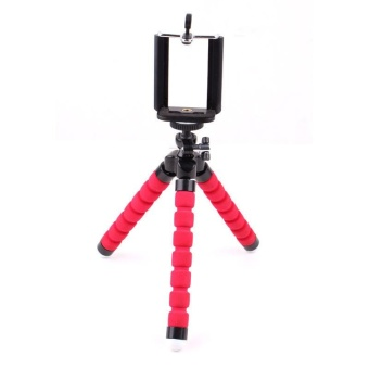 Trumpet Octopus Sponge Tripod Mini Triangle Bracket - Red - intl