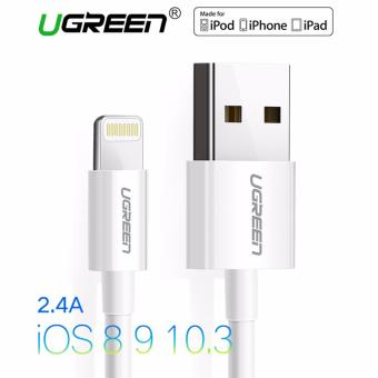 UGREEN 1m MFi Certified 8 Pin USB Lightning Cable for iPhone 6/6s/5s/iPad (White) - Intl