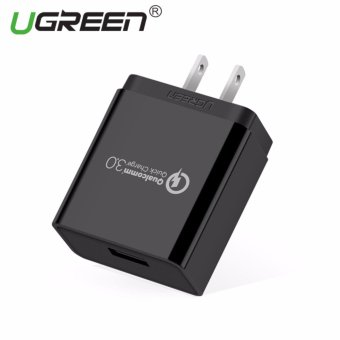 UGREEN Qualcomm Certified Quick Charge 3.0 18W USB Wall Charger Phone Fast Charger - Black,US Plug - intl