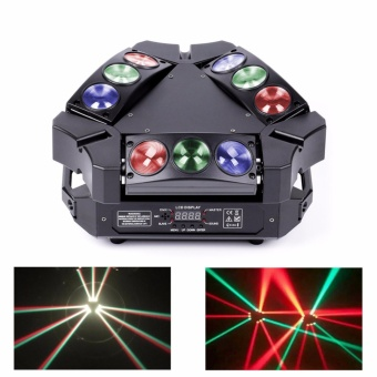 U'King Lighting Spider Moving Head Light Stage Effect Light9*3W RGB LEDs DMX512 and Sound Active Light Triangle Lampfor DJ Bar Party Nightclub Discotheque - intl