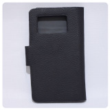 Ultimate Cover Handphone Universal / Cover HP / Casing HP / Casing Handphone / Flipshell / Flipcover / Smartcover / Leather Case / Book Cover / Sarung Handphone New Kop Karet Universal 4 inch - Black - 2