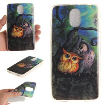 Ultra Fit Soft TPU Phone Back Case Cover For Lenovo Vibe P1m (Owl) -