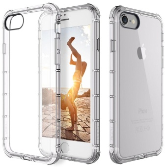 Ultra-thin Slim Transparent TPU Silicon Back Cover For iPhone 5 6 6s 7 Plus