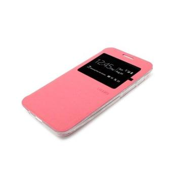 Ume Flip Cover Oppo Joy R1001 Pink / Leather Case Oppo R1001 View / Flipcover Oppo Joy Windows View / Dompet Oppo / Wallet Phone Bag / Phone Case Hp / Sarung Case / Casing Oppo Joy R1001 - Pink