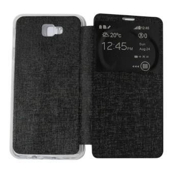 Ume Flip Cover Samsung Galaxy J5 Prime Hitam / Leather Case Samsung J5 Prime View /