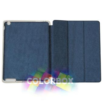 Ume Flipcover Apple Ipad 2 / Ipad 3 / Ipad 4 Flipshell Ipad4 / Leather Case Ipad2 / Sarung Ipad3 / Sarung Tablet - Biru Tua