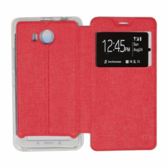 Ume Lenovo A7700 View / Flip Cover / Flipshell / Leather Case / Sarung Case /
