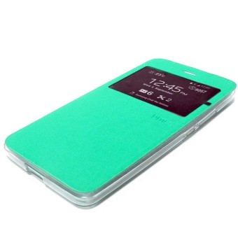 Ume Oppo R1001 joy r1001 FlipCover / Flip Shell / Leather Case / Sarung HP - tosca