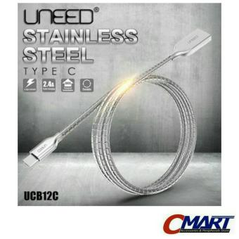 Uneed Kabel USB Type C Stainless Steel Data Charger Cable - UCB12C