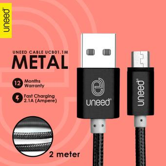 UNEED Metal Quick Charge & Data Cable 2M Micro USB - Original