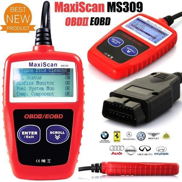Universal Car OBDII Can Scanner Error Code Reader Scan Tool OBD 2 BUS OBD2 Diagnosis Scaner PK AD310 ELM327 V1.5 - intl