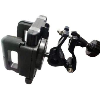 Universal Holder Motor Penyangga Handphone FDT Spion 2 In 1 Holder Motorcycle & Bicycle - Hitam