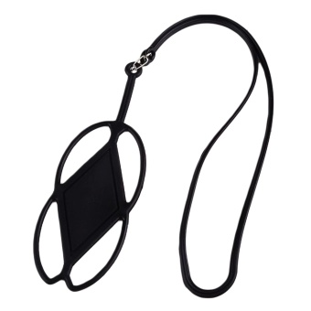 Universal Silicone Cell Phone Lanyard Pemegang Case Cover Phone Neck Strap Necklace Sling-Intl
